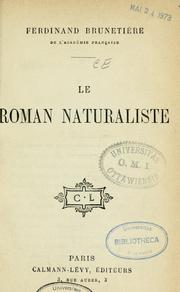 Cover of: Le roman naturaliste