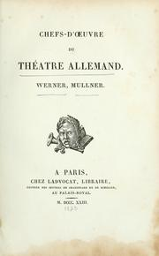 Cover of: Chefs-d'oeuvre du théâtre allemand