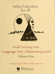 Cover of: Model teaching units | Tammy Elser