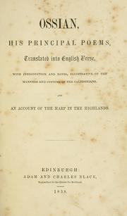 Cover of: Ossian, his principal poems