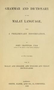 Cover of: A grammar and dictionary of the Malay language