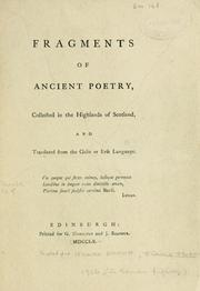 Cover of: [Fragments of ancient poetry