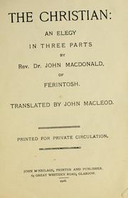 Cover of: The Christian | John Macdonald