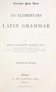 Cover of: An elementary Latin grammar