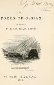 Cover of: The poems of Ossian | Ossian