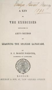 Cover of: A key to the exercises contained in Ahn