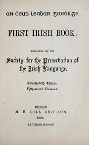 Cover of: An Cheud leabhar Gaedhilge = | Society for the Preservation of the Irish Language