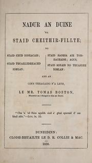 Cover of: Nadur an duine 'na staid cheithir-fillte