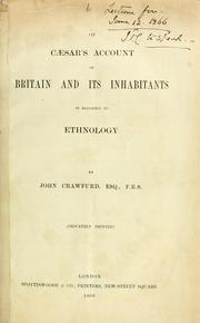 Cover of: On Caesar's account of Britain and its inhabitants in reference to ethnology