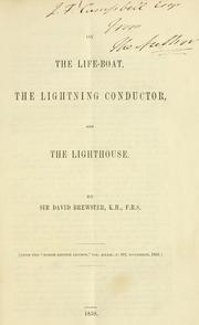 Cover of: On the life-boat, the lightning conductor, and the lighthouse