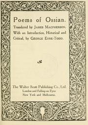 Cover of: Poems of Ossian
