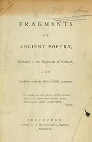 Cover of: Fragments of ancient poetry