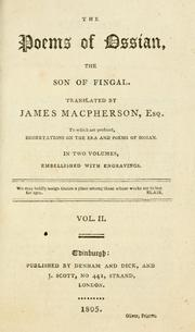 Cover of: The poems of Ossian, the son of Fingal