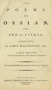 Cover of: The poems of Ossian | James Macpherson
