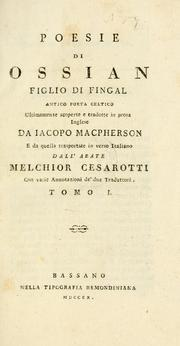 Cover of: Poesie di Ossian