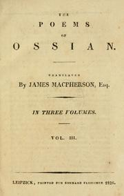 Cover of: The poems of Ossian