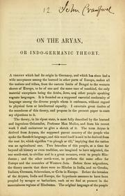 Cover of: On the Aryan, or Indo-Germanic theory