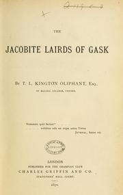 Cover of: The Jacobite Lairds of Gask [i.e. the Oliphant family]