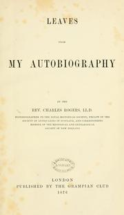 Cover of: Leaves from my autography