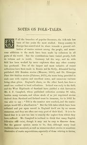 Cover of: Notes on folk-tales