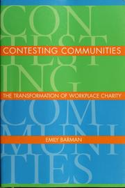 Cover of: Contesting communities