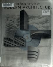 The oral history of modern architecture by John Peter