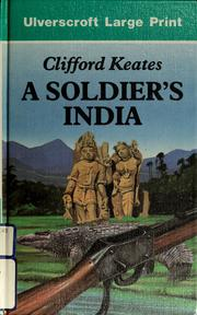Cover of: A soldier's India