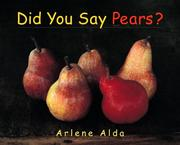 Cover of: Did You Say Pears?