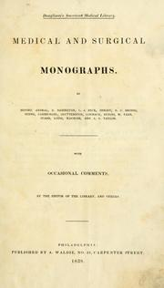 Cover of: Medical and surgical monographs