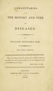 Cover of: Commentaries on the history and cure of diseases