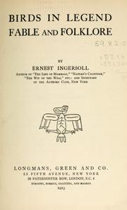 Cover of: Birds in legend, fable and folklore