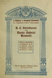 Cover of: A. C. Swinburne and Dante Gabriel Rossetti