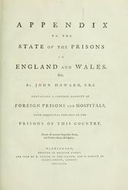 Cover of: Appendix to The state of the prisons in England and Wales, &c
