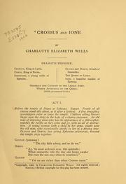 Cover of: Croesus and Ione | Charlotte E. Wells