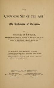 Cover of: The crowning sin of the age | Brevard D. Sinclair
