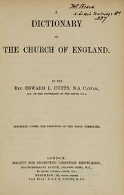 Cover of: A dictionary of the Church of England