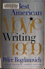 Cover of: The best American movie writing, 1999