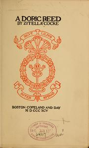 Cover of: A Doric reed