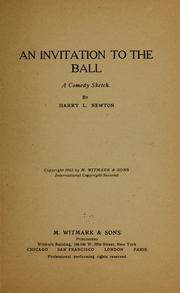 Cover of: An invitation to the ball ...