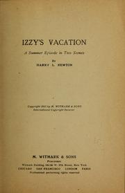 Cover of: Izzy's vacation ...