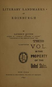 Cover of: Literary landmarks of Edinburg | Laurence Hutton