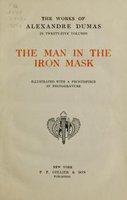 Cover of: The man in the iron mask | Alexandre Dumas