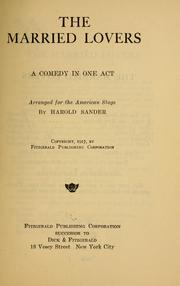 Cover of: The married lovers
