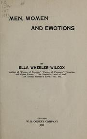 Cover of: Men, women and emotions