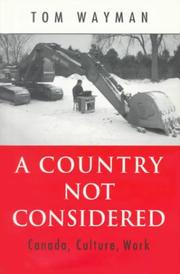 Cover of: A country not considered