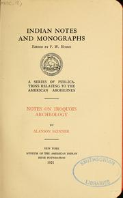 Cover of: Notes on Iroquois archeology