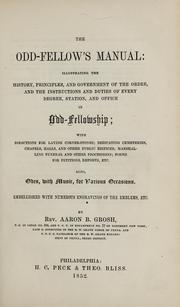 Cover of: The Odd-fellow