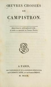 Cover of: Oeuvres choisies de Campistron