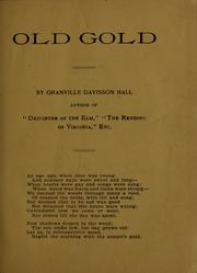 Cover of: Old gold