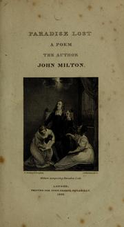 Cover of: Paradise lost | John Milton